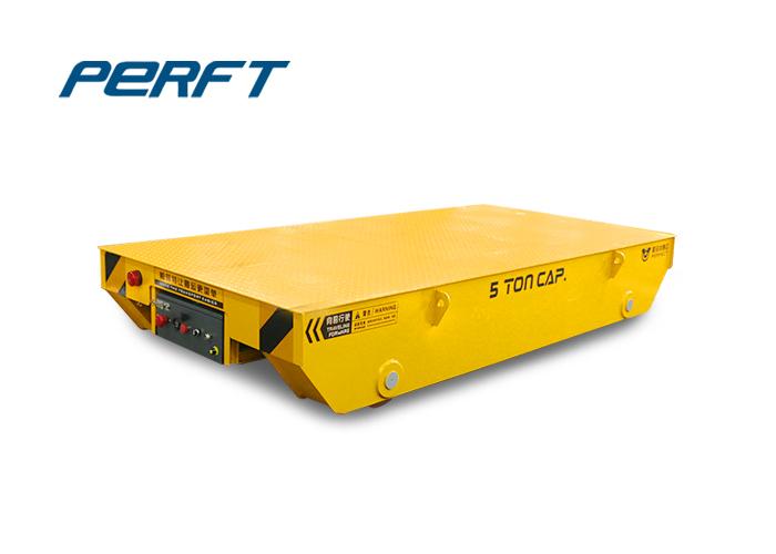 5吨喷漆房电动轨道平板搬运车